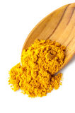 Turmeric over the spoon Stock Image