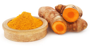 Turmeric over white background Royalty Free Stock Images