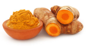 Turmeric over white background Stock Photo
