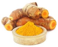 Turmeric over white background Stock Photography