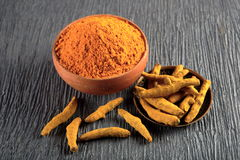 Turmeric powder. Studio table top Stock Photo