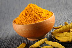 Turmeric powder. Studio table top Stock Photography