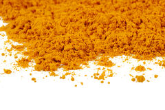 Turmeric powder background Royalty Free Stock Images