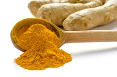 Turmeric powder or Curcuma Royalty Free Stock Images