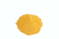 Turmeric powder. Isolated on white ackground Royalty Free Stock Photo