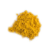 Turmeric powder isolated on a white background Stock Photos