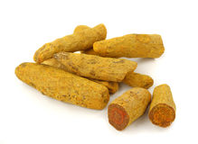 Turmeric root  or curcuma Stock Image