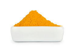 Turmeric root powder Royalty Free Stock Photo