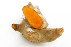 Turmeric root on a white background Stock Images