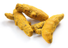 Turmeric roots Stock Photo