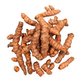 Turmeric Roots in a Pile Isolated Royalty Free Stock Photos