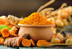 Turmeric roots Royalty Free Stock Photo