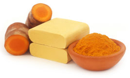 Turmeric with sandalwood bar Royalty Free Stock Image