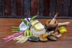 Turmeric for skin soap spa. Stock Image