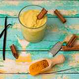 Turmeric smoothie Stock Photography