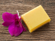 Turmeric soap Royalty Free Stock Photo