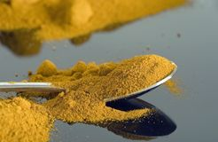 Turmeric on spoon Stock Image