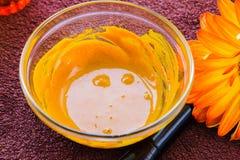 Turmeric twarzy maski set Obrazy Royalty Free