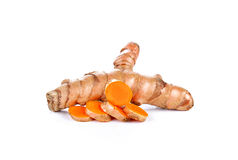 Turmeric on white background. Herb , food ,Ingredients Royalty Free Stock Photography
