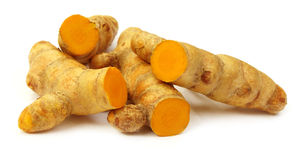 Turmerics. Isolated over white background Royalty Free Stock Images