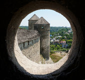 Turmfenster Stockbild