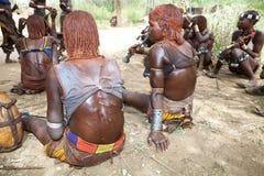 跳公牛仪式埃塞俄比亚 免版税库存照片