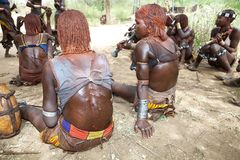 Het springen van de stierenceremonie Ethiopië Royalty-vrije Stock Foto's