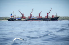 Turmkran auf Boot Lizenzfreies Stockbild