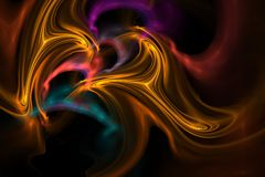 Turmoil. Colorful fractal of swirling shape Stock Photography