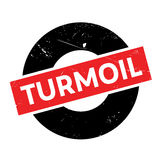 Turmoil rubber stamp Royalty Free Stock Images