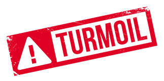Turmoil rubber stamp Stock Photography