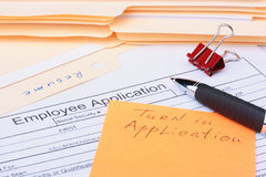Turn in Application Stock Image