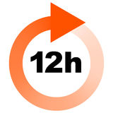 Turn around time TAT icon with circular clockwise arrow Royalty Free Stock Image