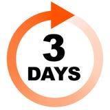 Turn around time TAT icon with circular clockwise arrow Stock Photos