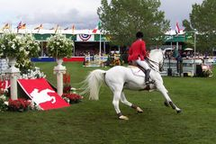 Turn Back. Spooner & Mount Robinson at Spruce Meadows, during the 2004 Masters stock images