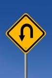 Turn back. Road sign illustration Royalty Free Stock Photos