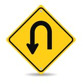 Turn back road sign. Vector illustration Royalty Free Stock Photography
