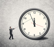 Turn back time Royalty Free Stock Image