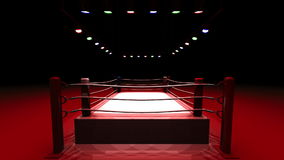 Turn Boxing Ring On Red Light stock footage