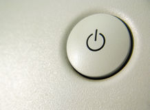 Turn on button. Turn on/off single button royalty free stock photos