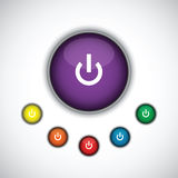 Turn on button set Royalty Free Stock Photography