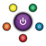 Turn on button set Stock Image