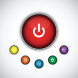 Turn on button set. A turn on button set Stock Image