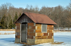 Turn of the century ice house. Image of a turn of the century ice house Stock Photo