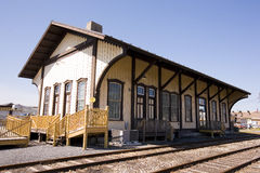 Turn of the century train station Royalty Free Stock Photography