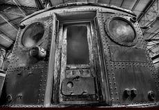Antique railroad car design element. stock image