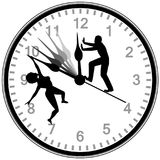 Turn the Clock back. Metaphor for couple, who is worried to have missed a big chance Stock Image