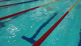 Turn competitive swimming stock video footage