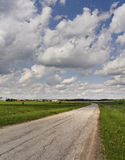 Turn country road. Royalty Free Stock Photography