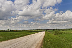 Turn country road. Royalty Free Stock Photos